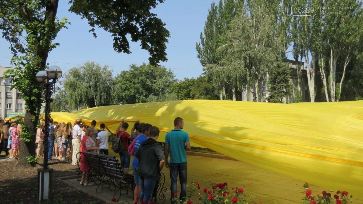 В Покровске развернули самый большой в мире флаг Украины, фото-7