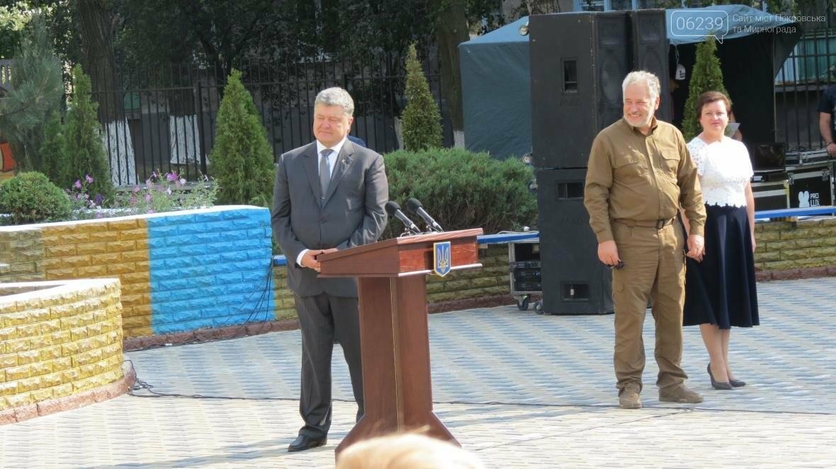 В Покровске при участии Президента Украины Петра Порошенко открыли опорную школу, фото-5