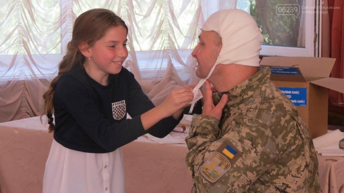 В Покровске военные медики провели интересную лекцию для школьников, фото-16