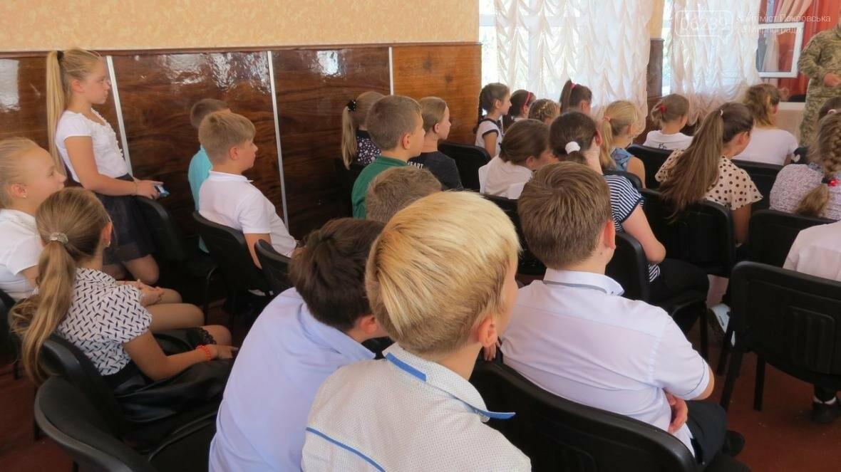 В Покровске военные медики провели интересную лекцию для школьников, фото-7