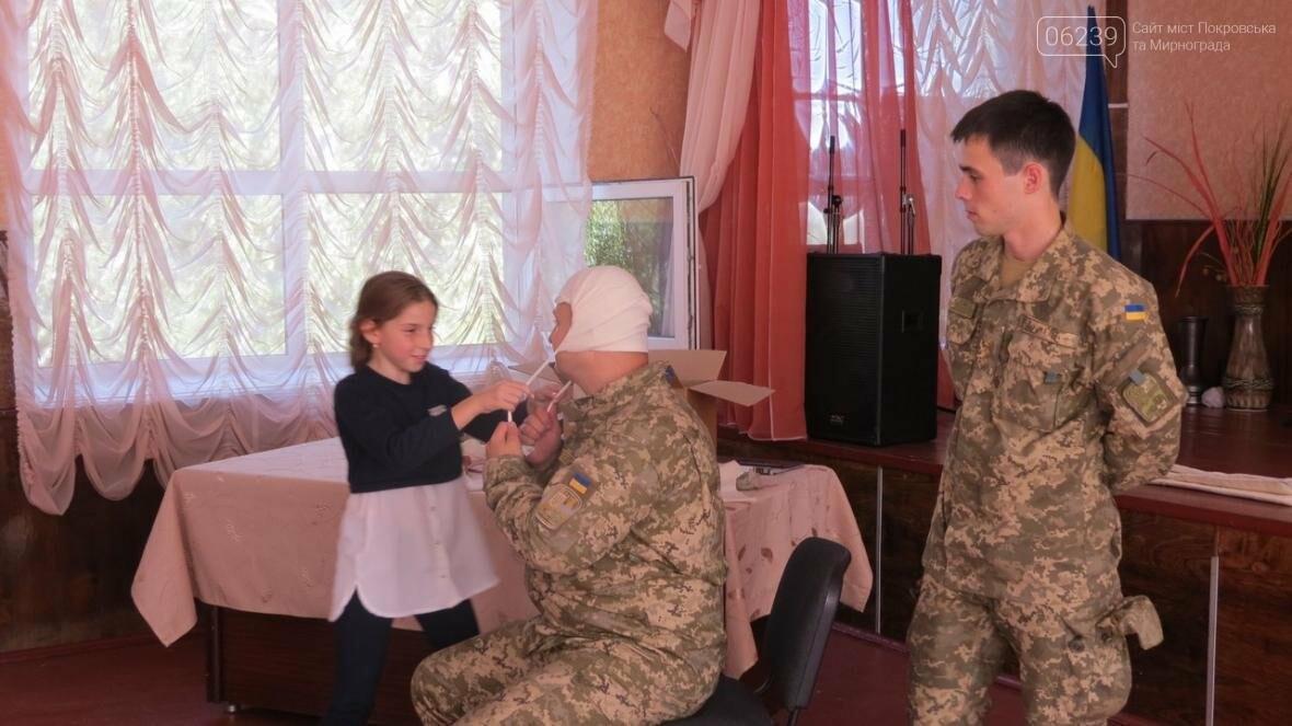 В Покровске военные медики провели интересную лекцию для школьников, фото-15