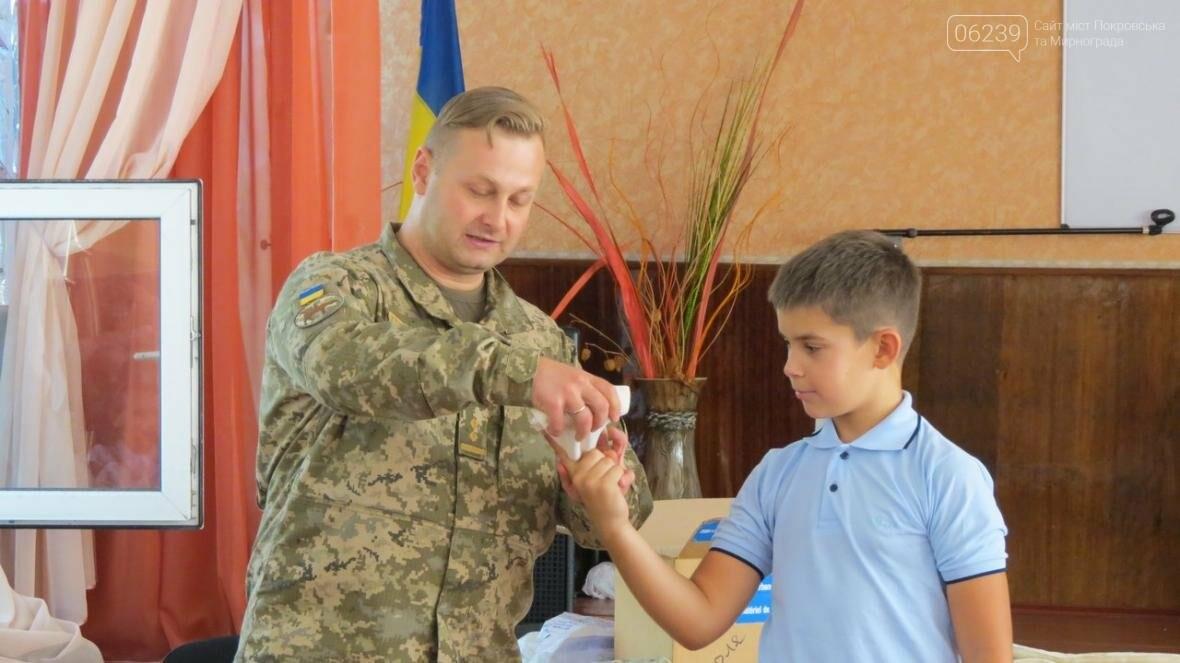 В Покровске военные медики провели интересную лекцию для школьников, фото-2