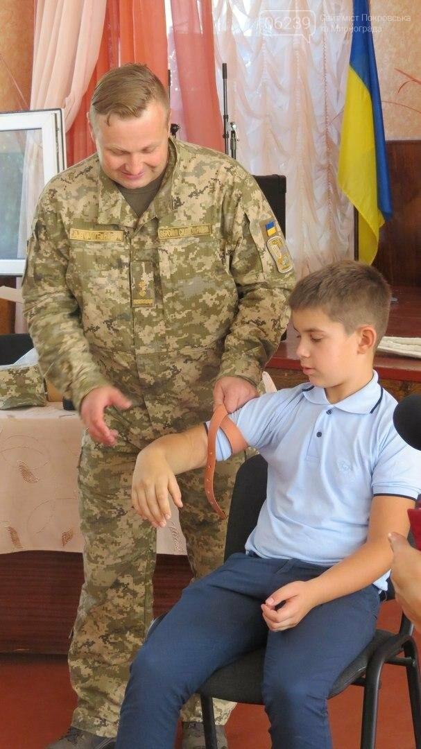 В Покровске военные медики провели интересную лекцию для школьников, фото-3