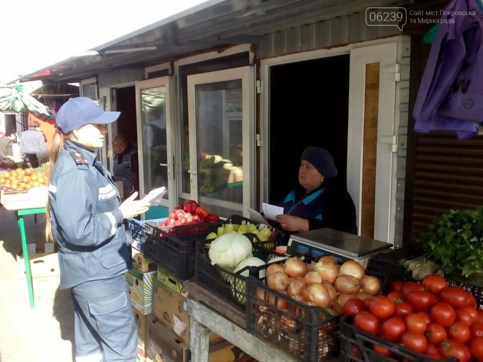 В Покровске спасатели провели массово-разъяснительную работу на рынке, фото-2