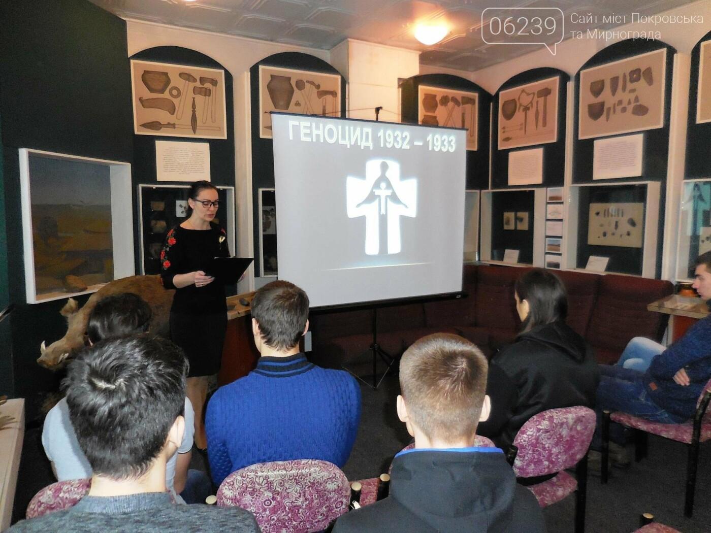 У Покровському історичному музеї пройшов кінолекторій присвячений 85-й річниці Голодомору, фото-1