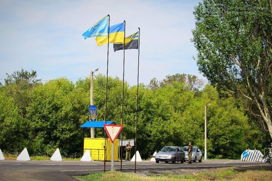 В Покровске при участии руководителя ООС Сергея Наева было открыто после ремонта и обустройства стационарный блок-пост, фото-1