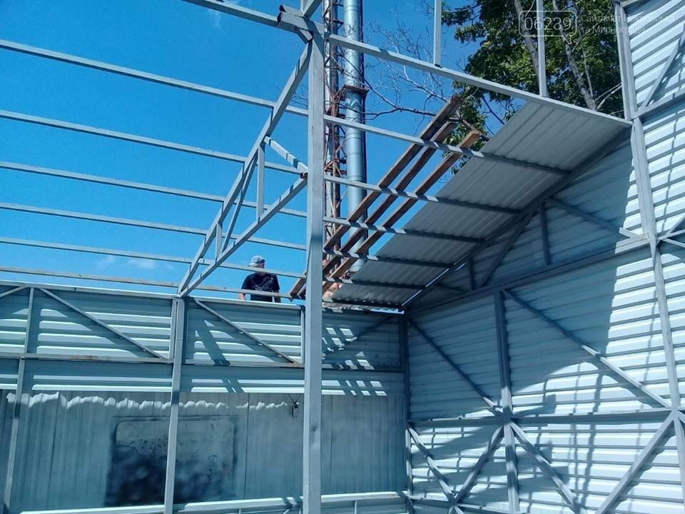 В Мирнограде на модульной котельной ОШ №5 им. Валерия Доценко завершаются работы по расширению склада для топлива, фото-3