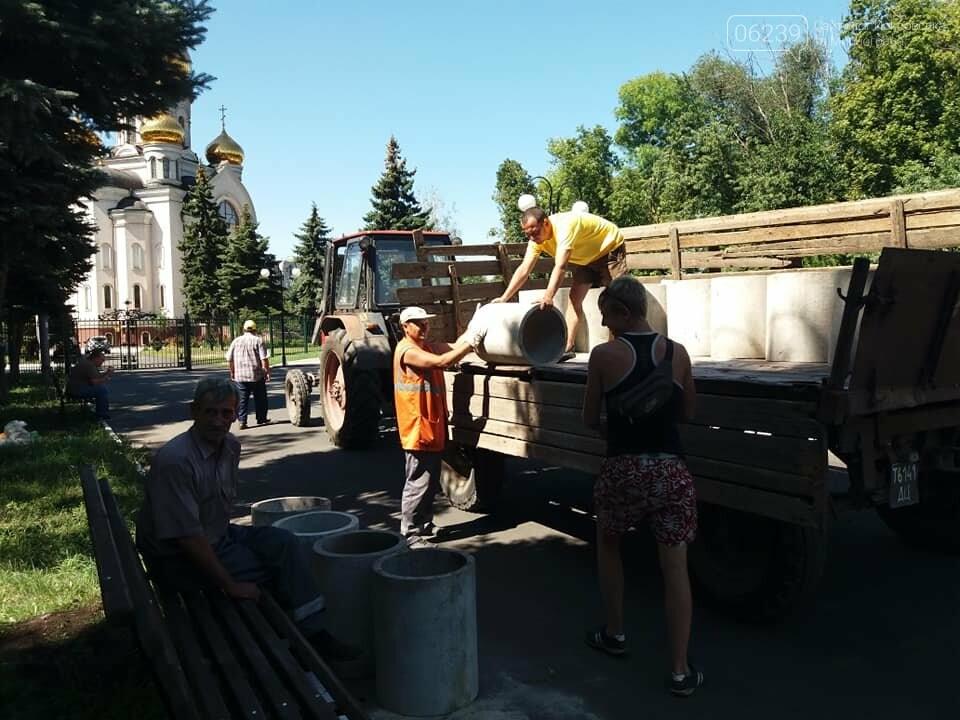 Лавочки и урны установили в парке Соборный в Покровске, фото-8