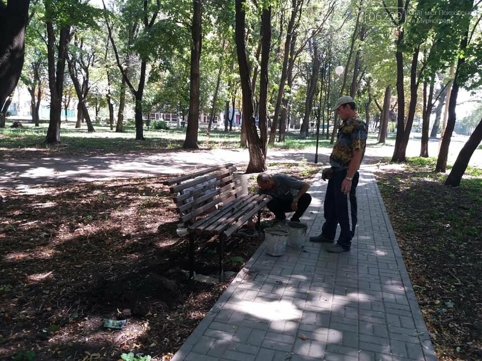 Лавочки и урны установили в парке Соборный в Покровске, фото-10