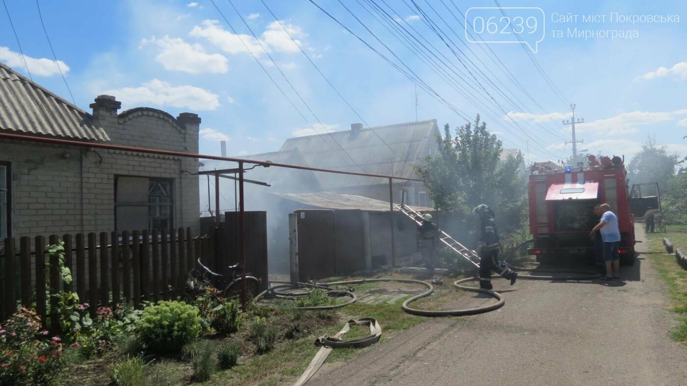 В Покровске горит жилой дом, фото-16