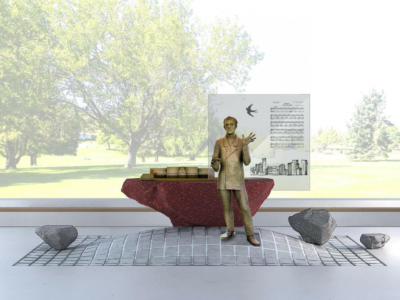 В Покровске устанавливают памятник композитору Николаю Леонтовичу, фото-10