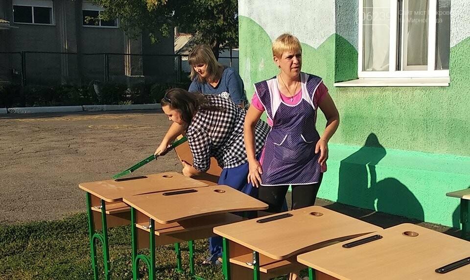 С нового учебного года первоклассники Мирнограда будут учиться за новыми партами  , фото-1