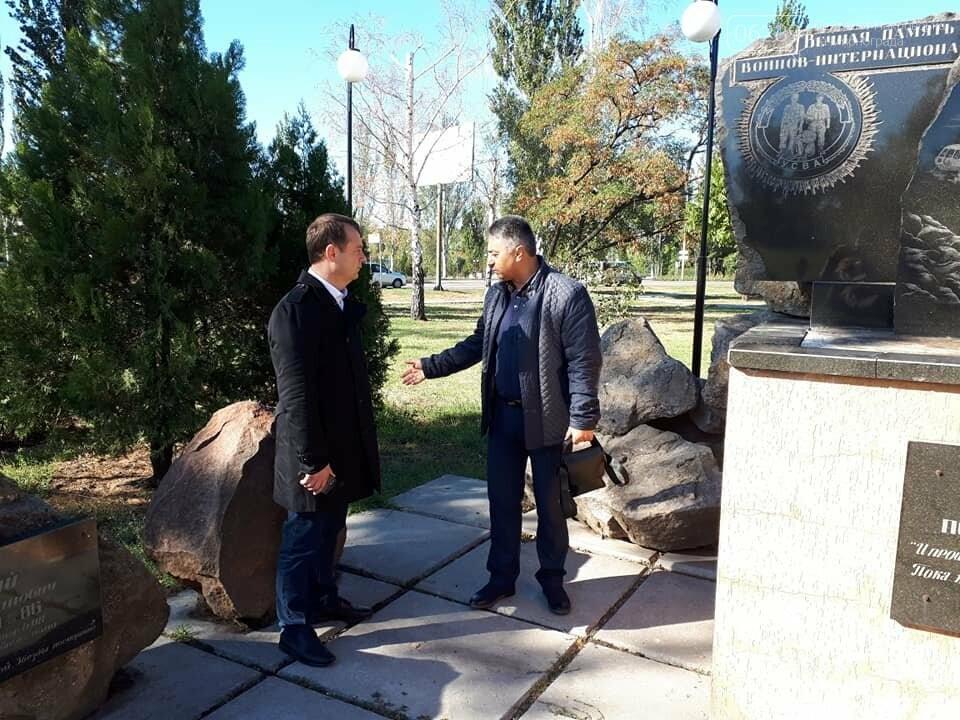 В Покровске вандалы позарились на памятник афганцам, фото-1