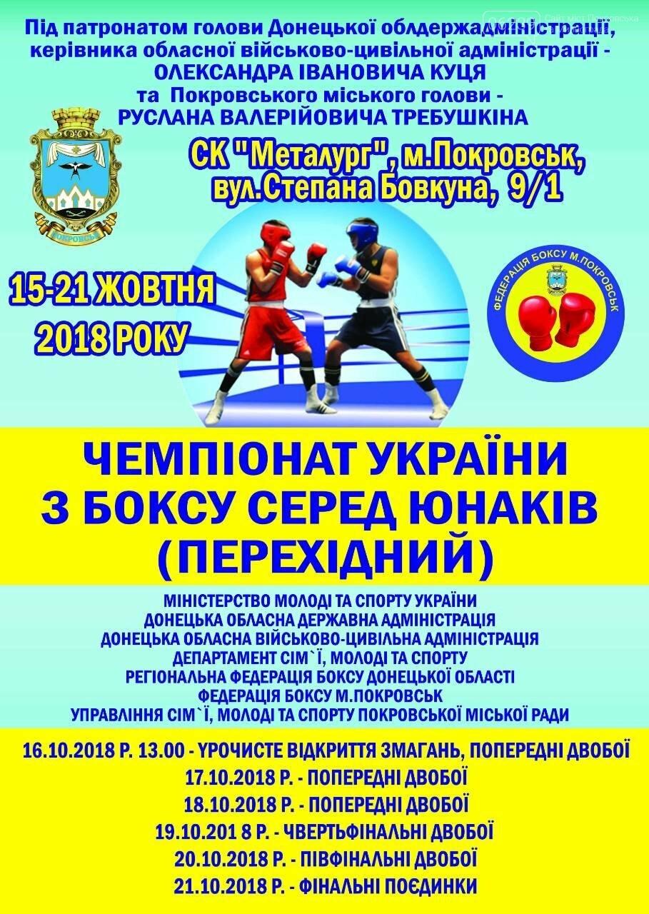 У Покровську відбудеться Чемпіонат України з боксу, фото-1