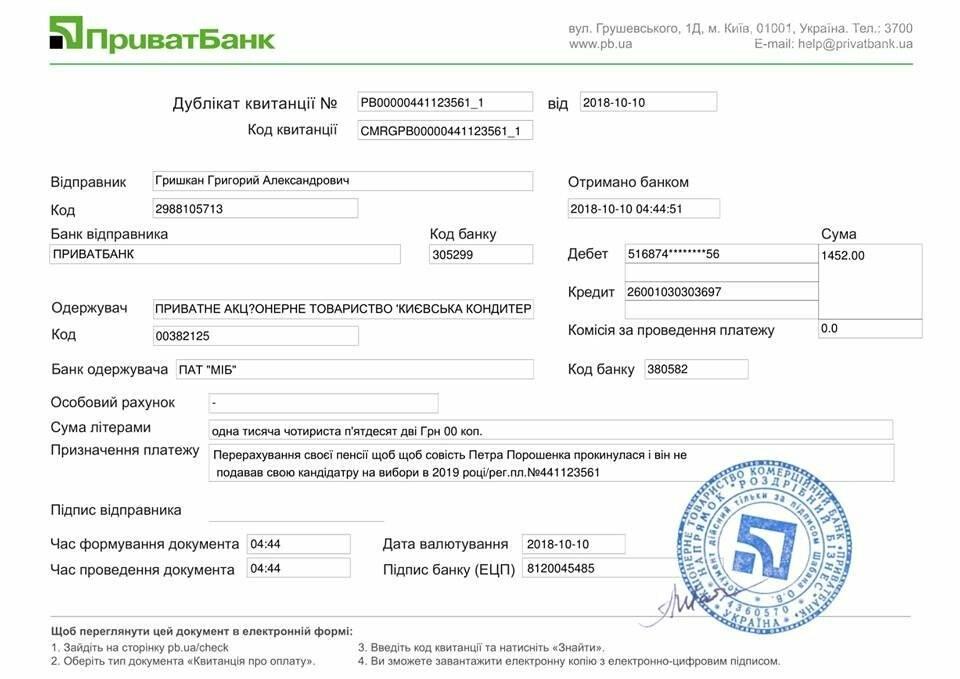 Уроженец Покровска Григорий Гришкан перечислил свою пенсию Порошенко, чтобы тот не участвовал в выборах , фото-1