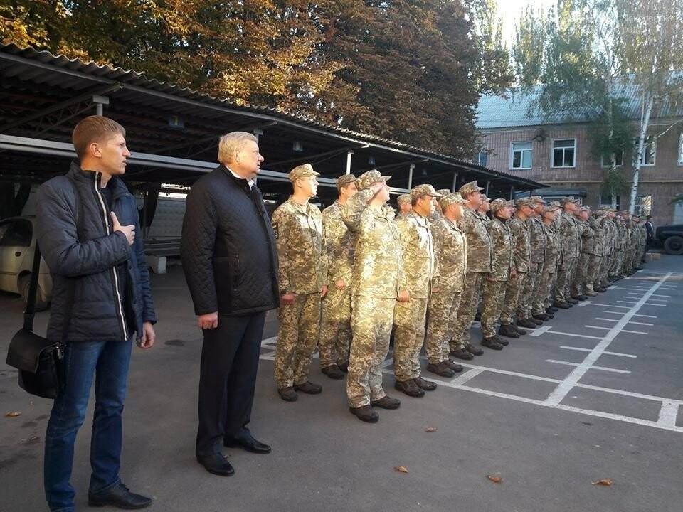 В Покровсько-Ясинуватському ОМВК відбулось урочисте шикування особового складу до Дня захисника України, фото-8