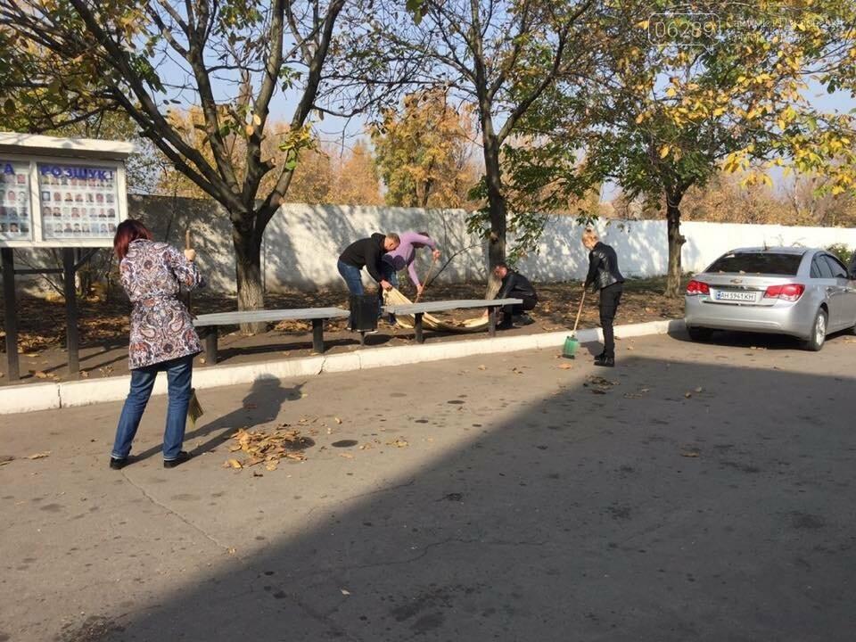 Правоохоронці Мирнограда вийшли на суботник, фото-4