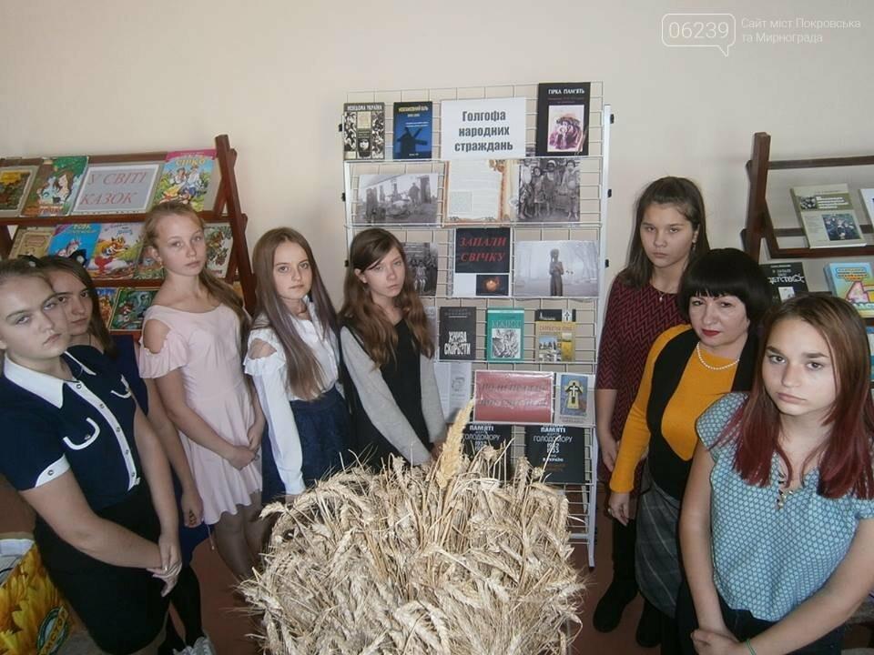 У школах Мирнограда пройшли жалобні заходи до Дня пам'яті жертв голодомору, фото-1