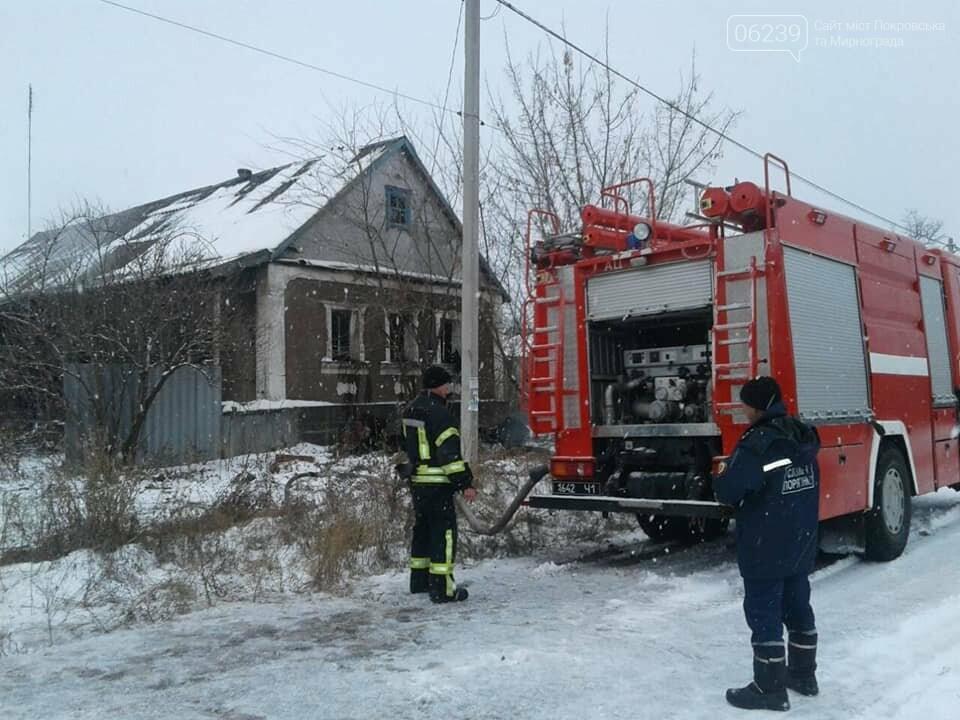 Сьгодні у Покровському районі горів занедбаний будинок, фото-3