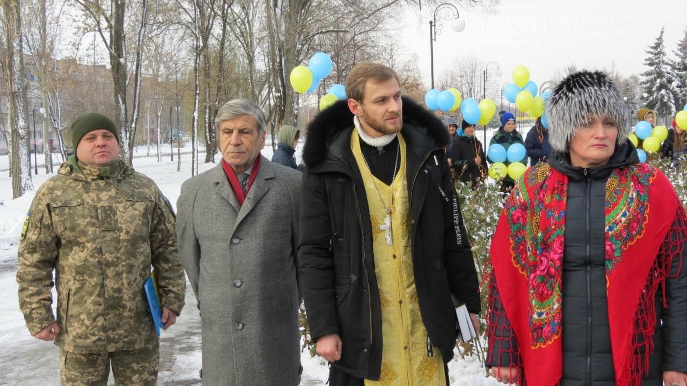 День достоинства и свободы: в Покровске почтили память событий на Майдане, фото-28