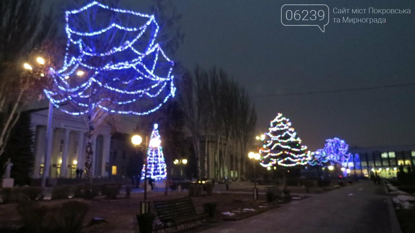 Праздник к нам приходит: Покровск засверкал новогодними огнями и красками, фото-3