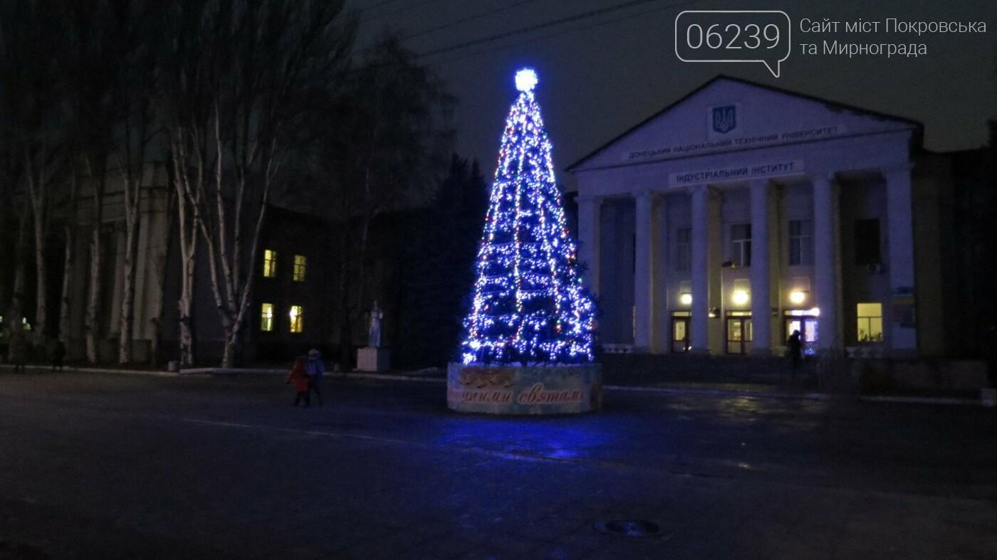 Праздник к нам приходит: Покровск засверкал новогодними огнями и красками, фото-2