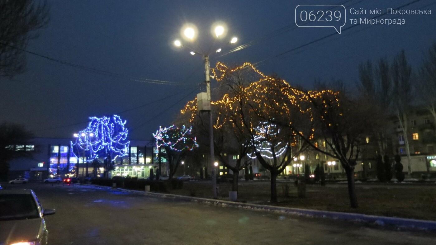 Праздник к нам приходит: Покровск засверкал новогодними огнями и красками, фото-4