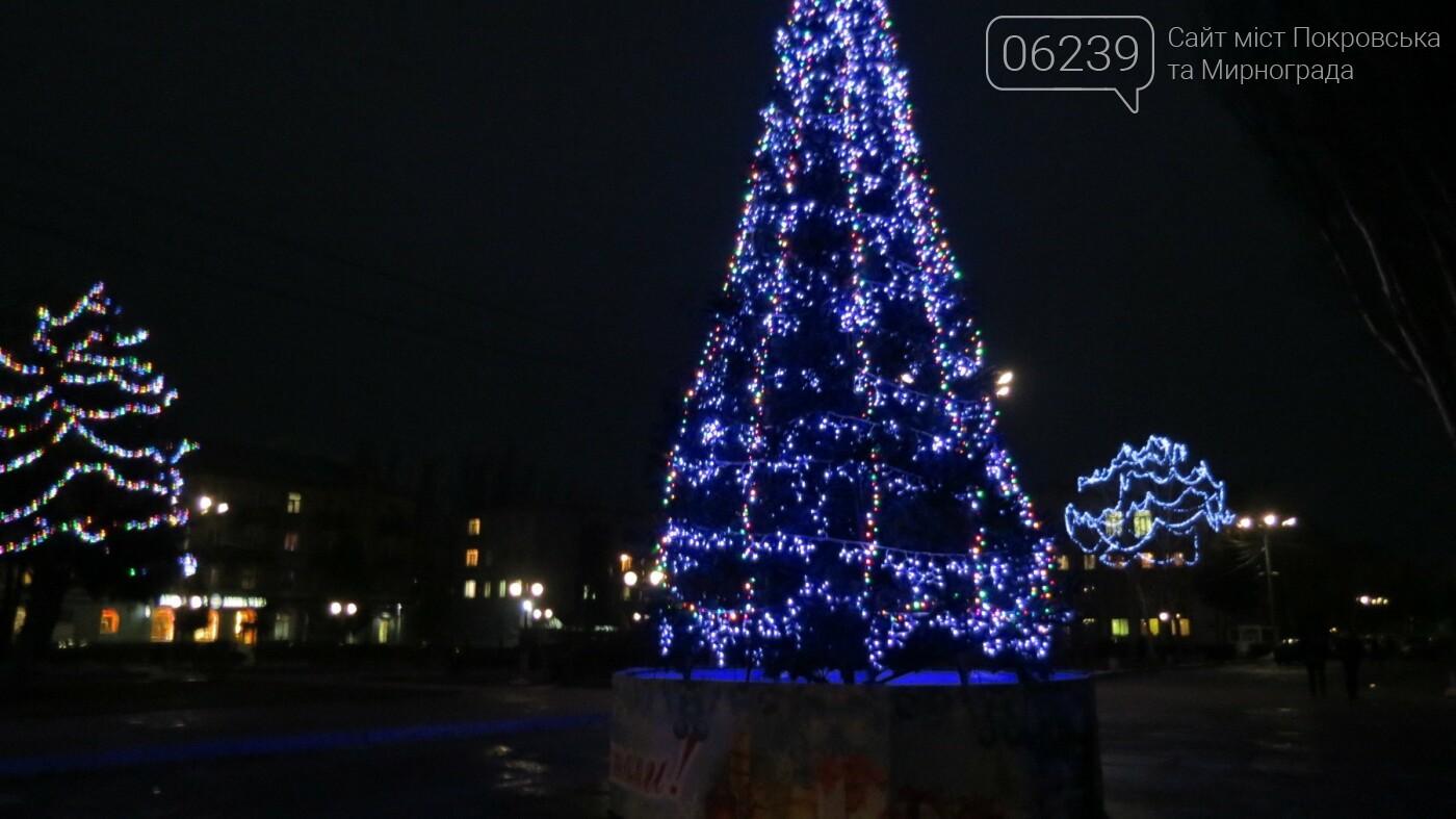 Праздник к нам приходит: Покровск засверкал новогодними огнями и красками, фото-1