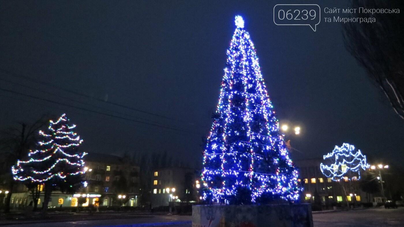 Праздник к нам приходит: Покровск засверкал новогодними огнями и красками, фото-5
