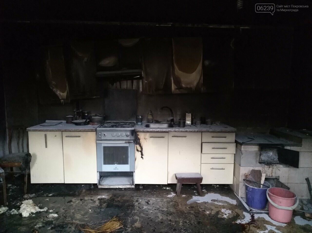 На пожаре в Покровске погибла пожилая женщина, фото-1