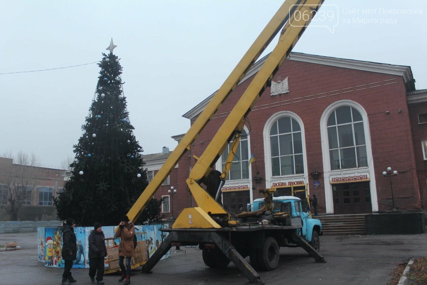В Мирнограде установили главную елку города, стала известна дата ее открытия, фото-3