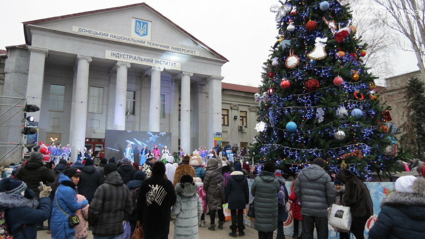 В Покровске зажгли главную новогоднюю елку, фото-3