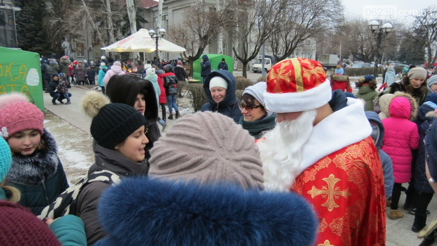 В Покровске зажгли главную новогоднюю елку, фото-44