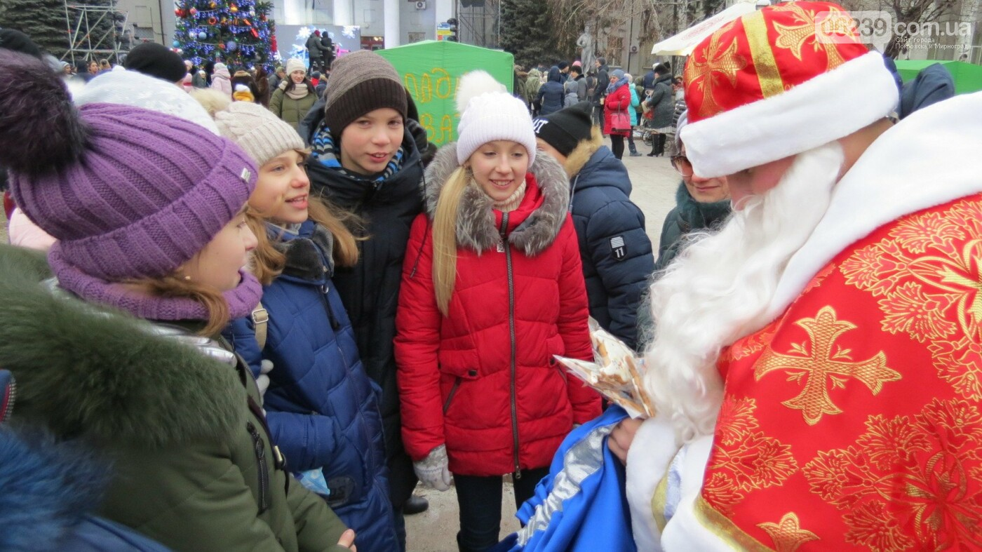 В Покровске зажгли главную новогоднюю елку, фото-43