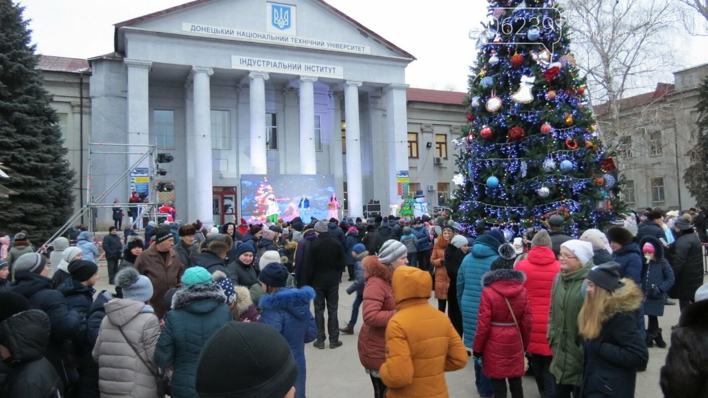 В Покровске зажгли главную новогоднюю елку, фото-46