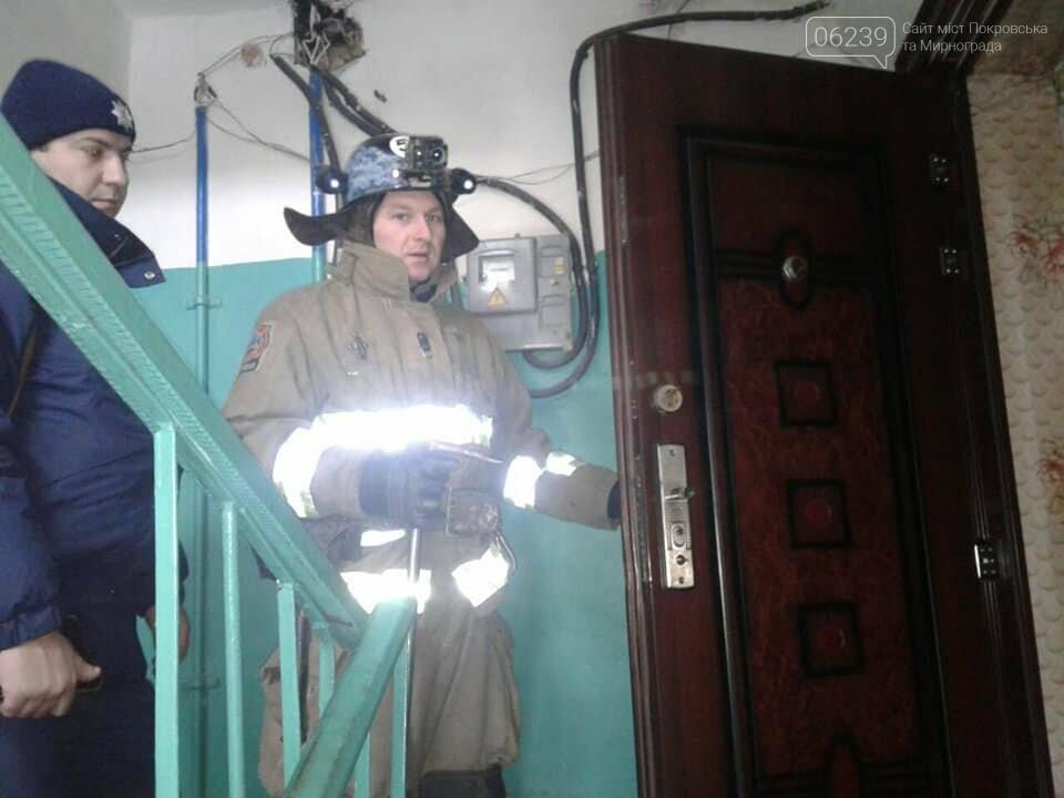 В Мирнограде спасатели помогли открыть дверь в квартиру, где находилась пожилая женщина, фото-2