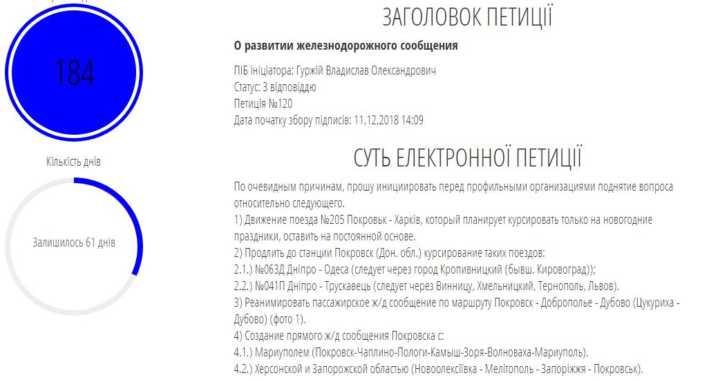 В горсовете ответили на петицию о развитии ж/д сообщения Покровска с другими городами, фото-1