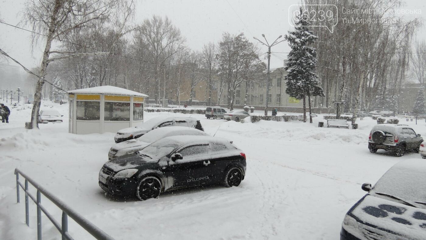 В Покровске с утра снегопад… работают коммунальщики и техника, фото-7