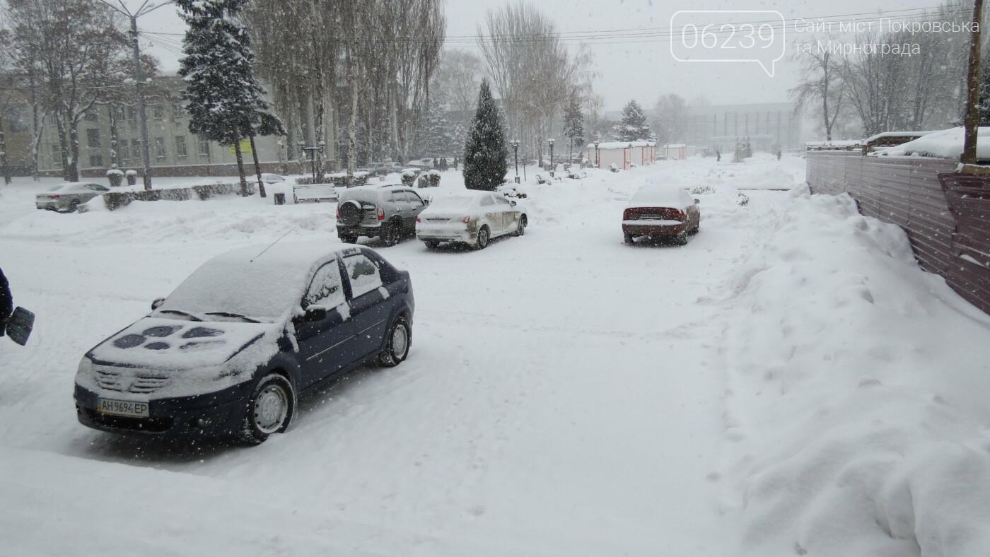 В Покровске с утра снегопад… работают коммунальщики и техника, фото-33