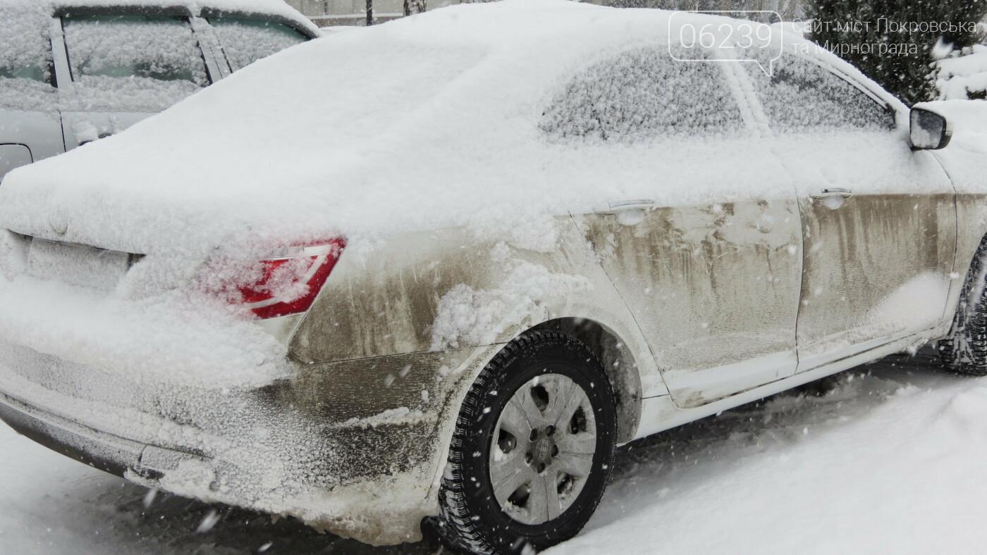 В Покровске с утра снегопад… работают коммунальщики и техника, фото-14