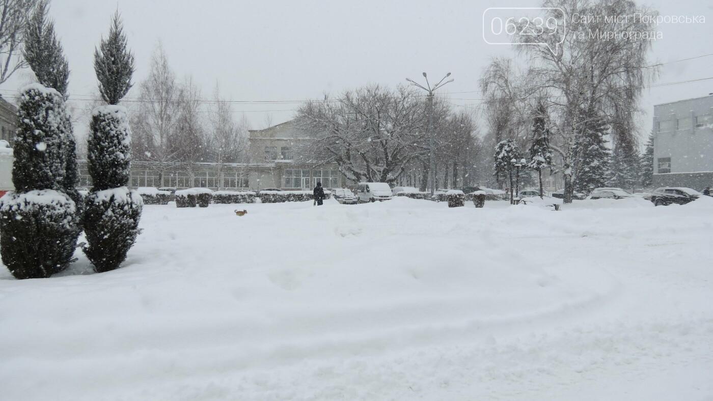 В Покровске с утра снегопад… работают коммунальщики и техника, фото-22