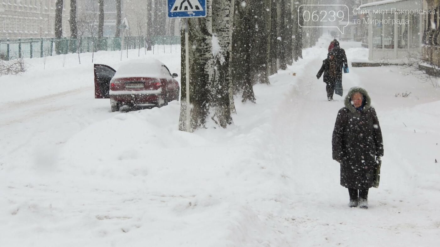 В Покровске с утра снегопад… работают коммунальщики и техника, фото-16