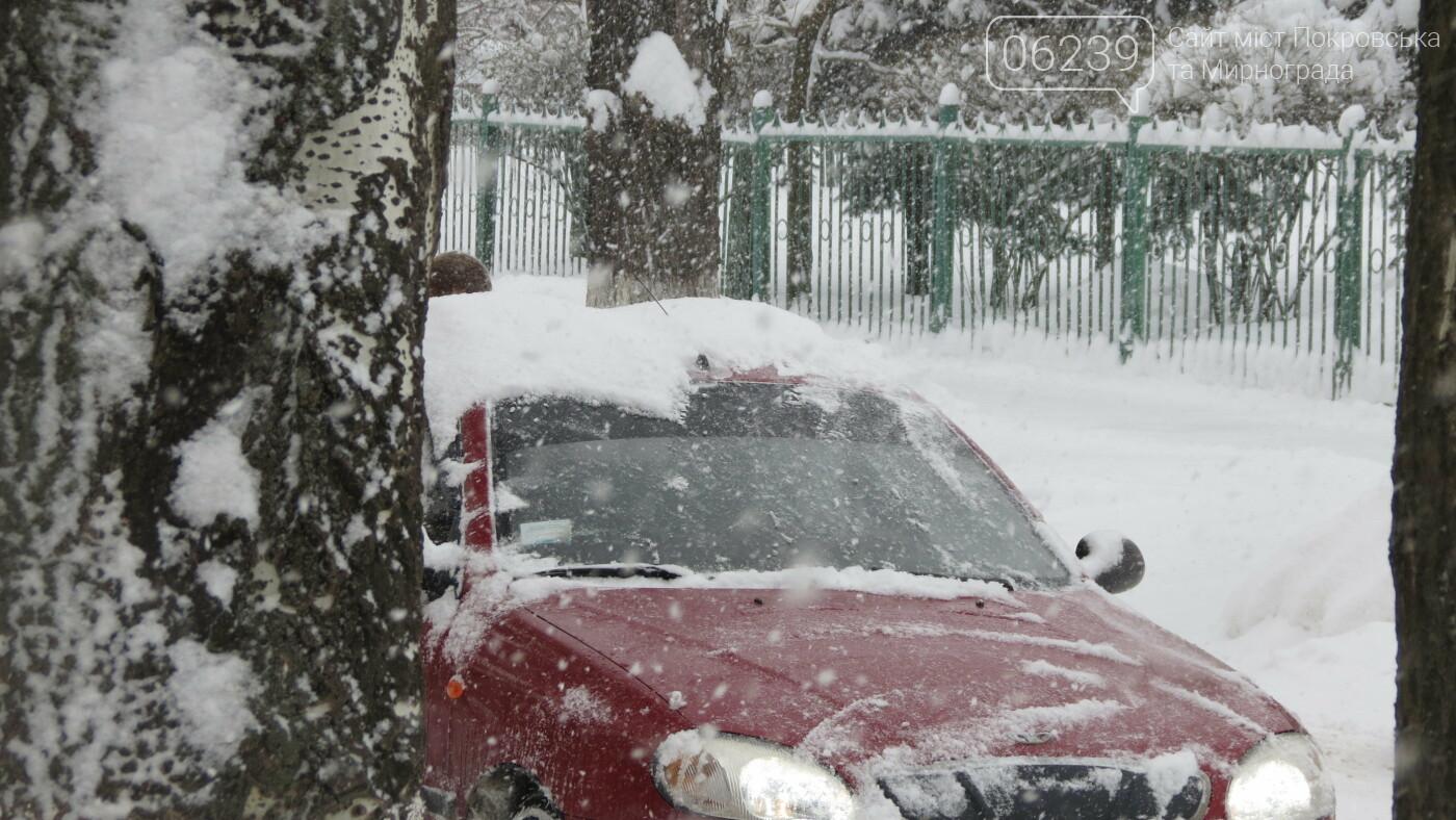 В Покровске с утра снегопад… работают коммунальщики и техника, фото-21