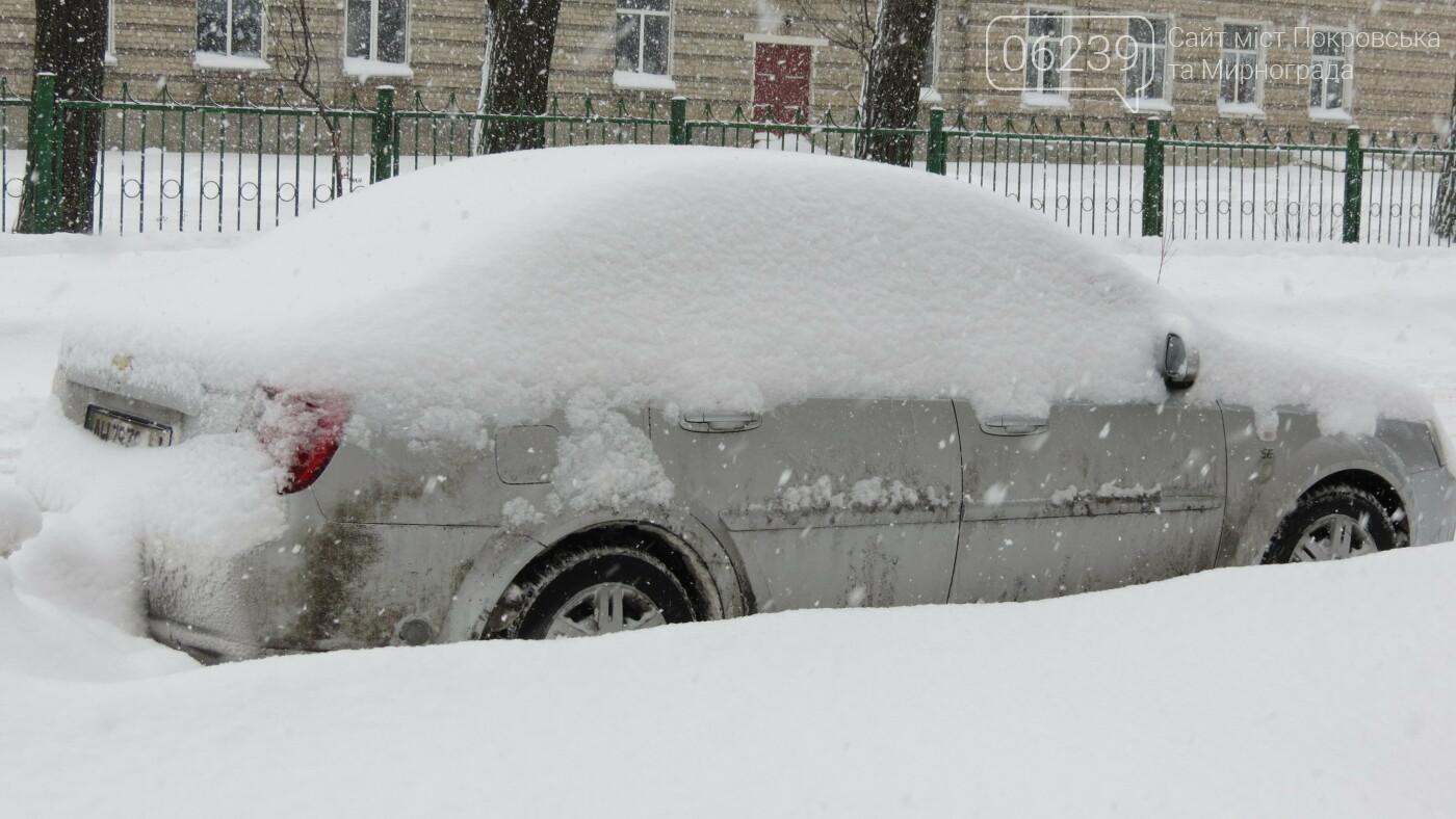 В Покровске с утра снегопад… работают коммунальщики и техника, фото-23
