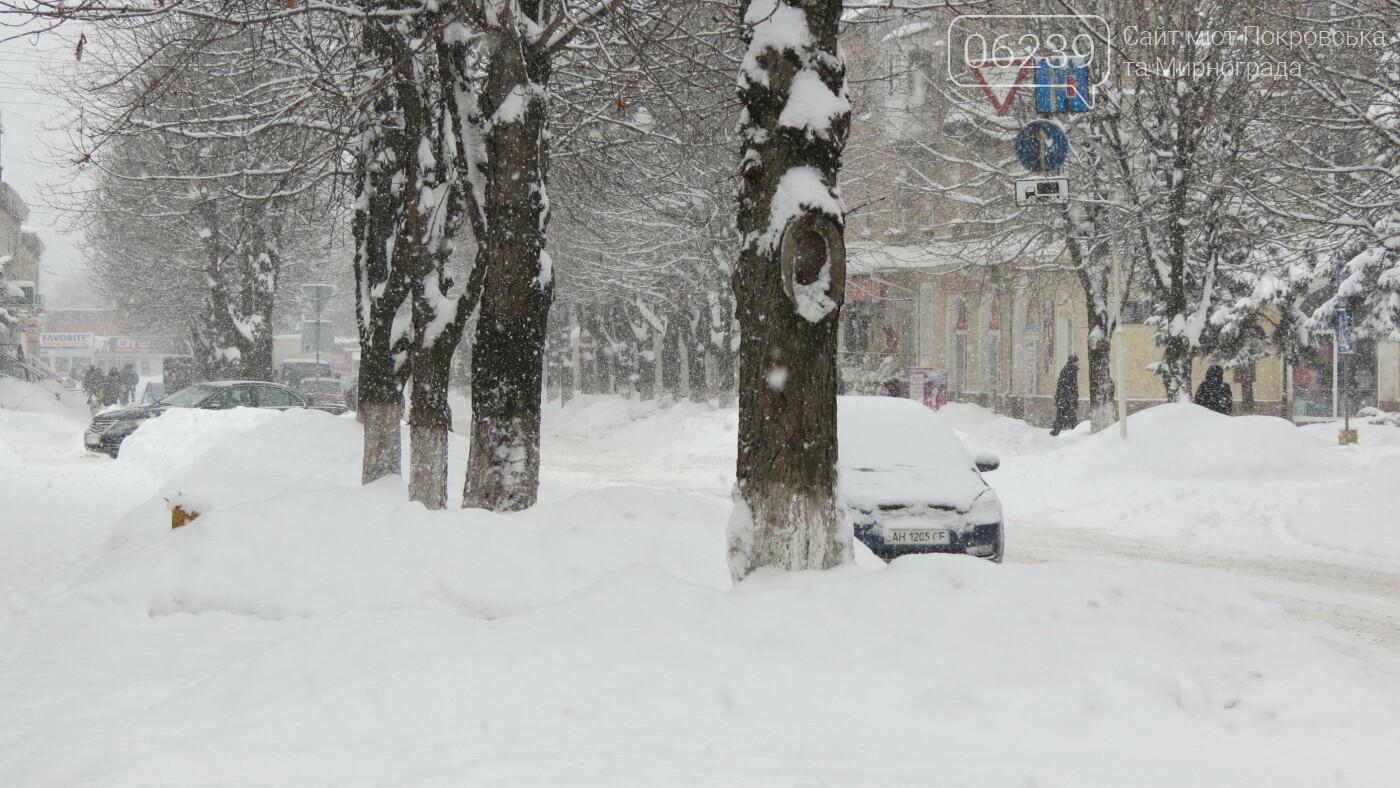 В Покровске с утра снегопад… работают коммунальщики и техника, фото-28
