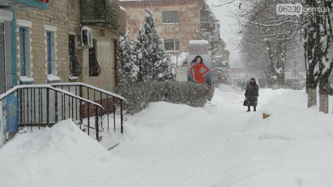 В Покровске с утра снегопад… работают коммунальщики и техника, фото-12