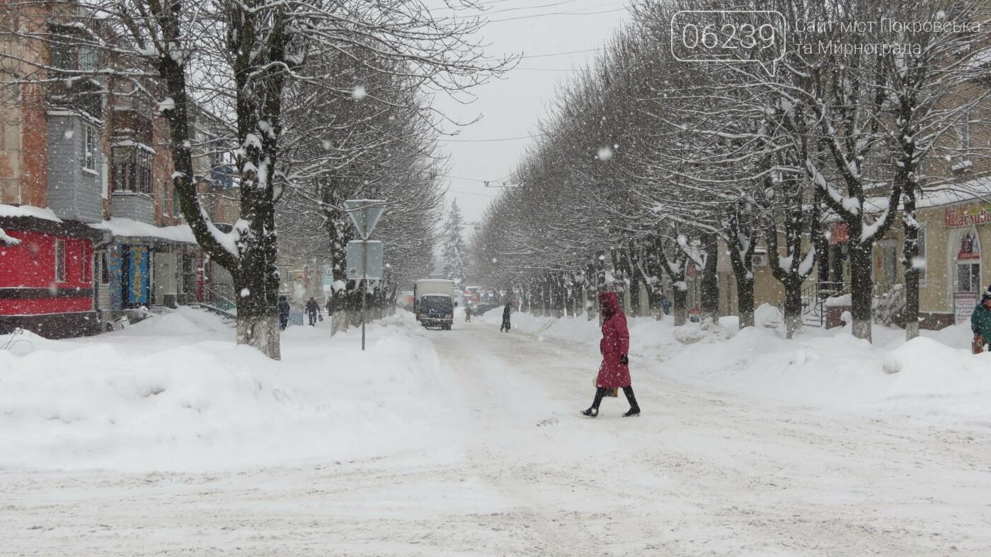 В Покровске с утра снегопад… работают коммунальщики и техника, фото-32