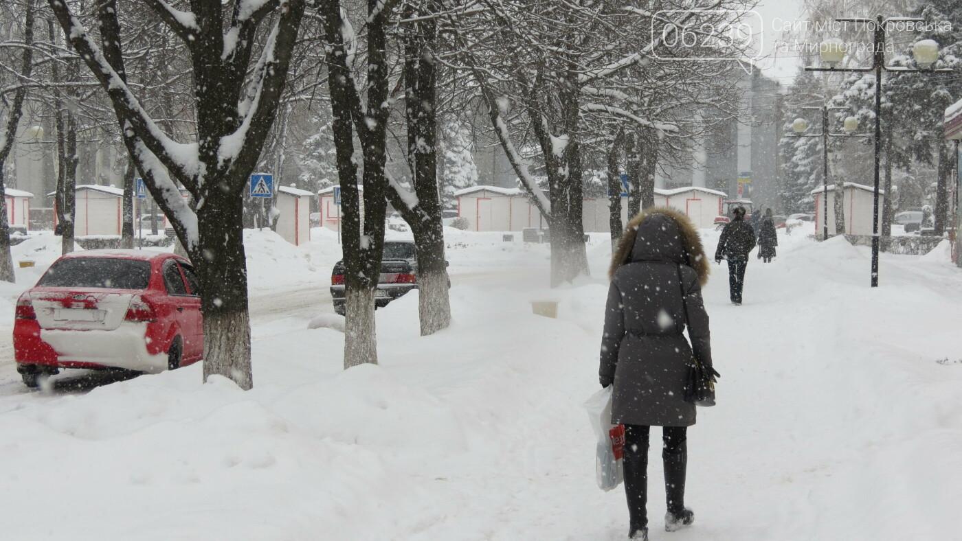 В Покровске с утра снегопад… работают коммунальщики и техника, фото-25