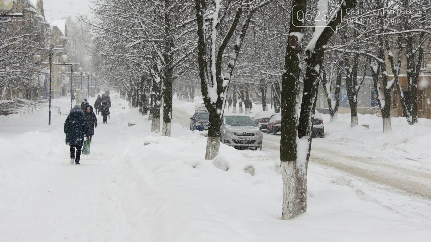 В Покровске с утра снегопад… работают коммунальщики и техника, фото-37