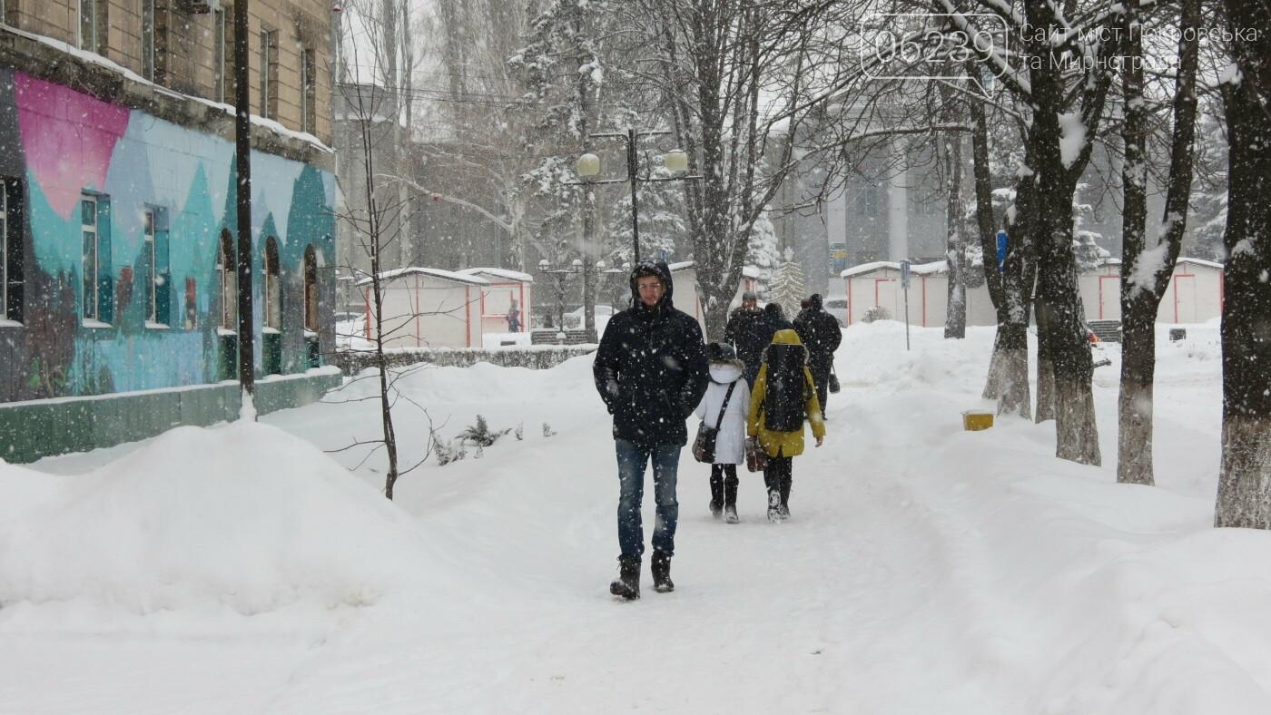 В Покровске с утра снегопад… работают коммунальщики и техника, фото-11